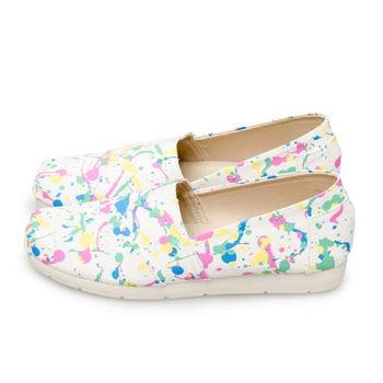 FUFA MIT 潑漆街頭塗鴉懶人鞋(N22) - 白色