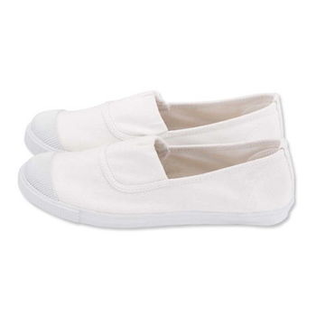 FUFA MIT 素面鬆緊款懶人鞋(A29) - 米色