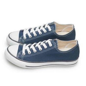 FUFA MIT 低統百搭帆布鞋 (T41) 深藍