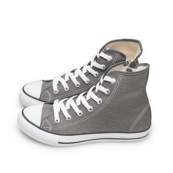 FUFA MIT 側拉鍊百搭帆布鞋(T40) - 灰色