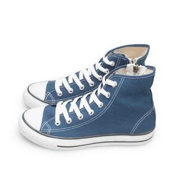 FUFA MIT 側拉鍊百搭帆布鞋(T40) - 深藍