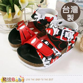魔法Baby~台灣製迪士尼米奇兒童涼鞋 百貨專櫃款~sh5502