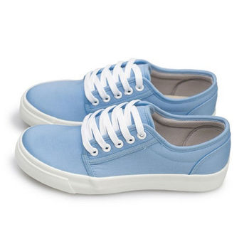 FUFA MIT 素色滑板鞋 (U16) 水藍