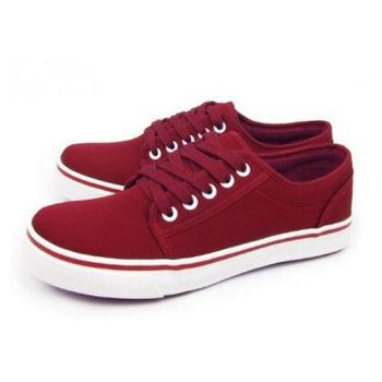 FUFA MIT 素色滑板鞋 (U16) 酒紅