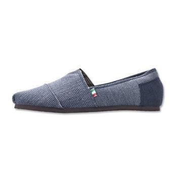PLAYER 編織感布面懶人鞋(FIP01) - 藍色