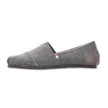 PLAYER 編織感布面懶人鞋(FIP01) - 灰色