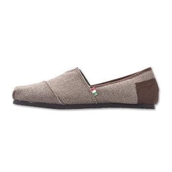 PLAYER 編織感布面懶人鞋(FIP01) - 咖啡