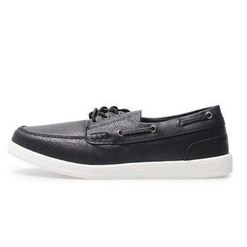 PLAYER 簡約綁帶帆船鞋(SP102) - 黑色