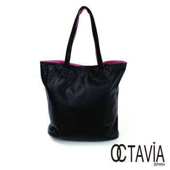 OCTAVIA - 軟心腸 水洗皮雙面雙色1+1 簡式購物包 - 愛黑愛紅
