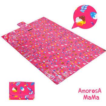 【Amorosa Mama】折疊手提式戶外野餐墊/遊戲墊/地墊 (甜點)