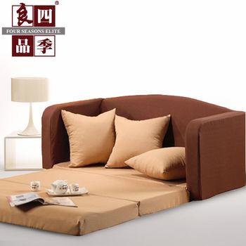 LooCa 時尚富士都雙人沙發床(咖啡)