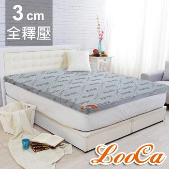 【LooCa】旗艦竹炭3cm記憶床墊-雙人