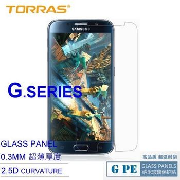 【TORRAS圖拉斯】Samsung GALAXY S6 防爆鋼化玻璃貼 G PE 系列 9H硬度 2.5D導角 0.3MM 弧面切割 加送面條線