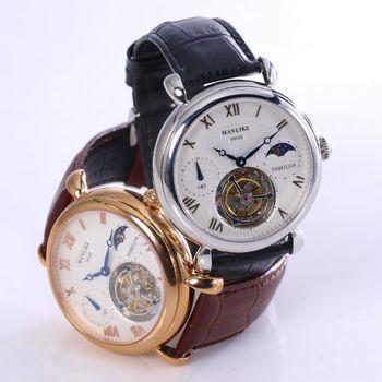 Manlike雙時區飛行陀飛輪腕錶