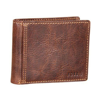 【FOSSIL】2014男時尚Ingram旅行者仿舊棕色皮夾(預購)