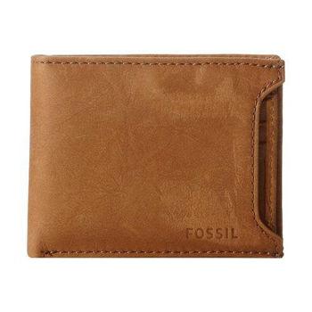 【FOSSIL】2014男時尚Ingram滑動2合1棕色皮夾(預購)