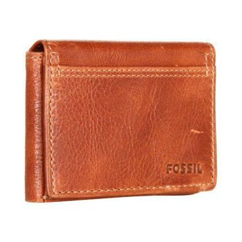【FOSSIL】2014男時尚魅力粗獷白蘭地棕色皮夾(預購)