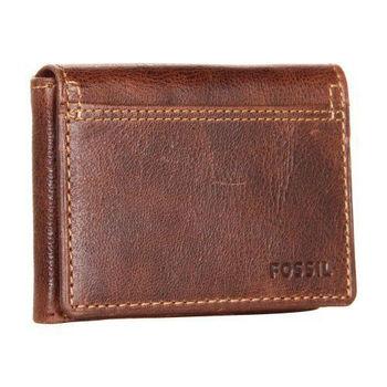 【FOSSIL】2014男時尚魅力粗獷深褐色皮夾(預購)