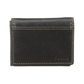 【FOSSIL】2014男時尚魅力粗獷黑色皮夾(預購)
