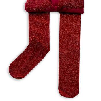 公主童襪princess 繽紛紅閃亮蔥兒童襪(0-12歲)