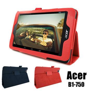 宏碁 Acer Iconia One 7 B1-750 專用高質感平板電腦磁釦式皮套 保護套 可斜立帶筆插