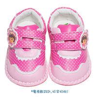 ~布布童鞋~DORA朵拉點點花邊感學步鞋 ^#40 13.5 ^#126 15.5cm ^