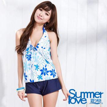 【SUMMERLOVE 夏之戀】沁涼藍天四件式泳衣S15755