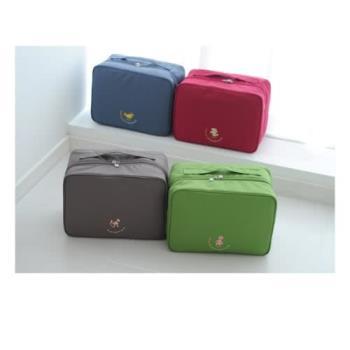 【旅遊首選、旅行用品】韓版-L號大容量行李箱外掛式旅行收納袋購物包