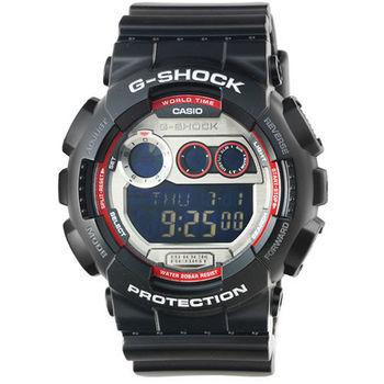 CASIO 卡西歐G-SHOCK鬧鈴電子錶-黑 / GD-120TS-1