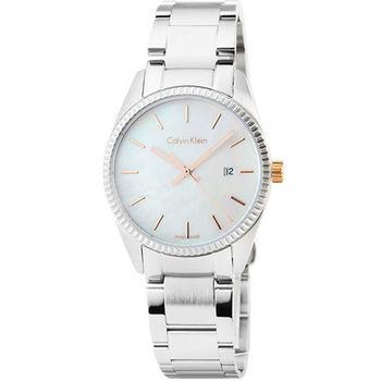 Calvin Klein Alliance horloge 凱文克萊藍寶石女錶-貝殼面 / K5R33B4G
