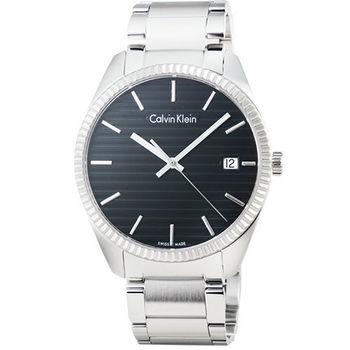 Calvin Klein Alliance horloge 凱文克萊藍寶石鋼帶男錶-黑 / K5R31141