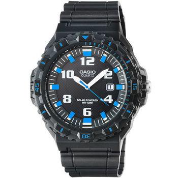 CASIO 日系卡西歐光動能運動錶-黑藍 / MRW-S300H-1B2 (原廠公司貨)