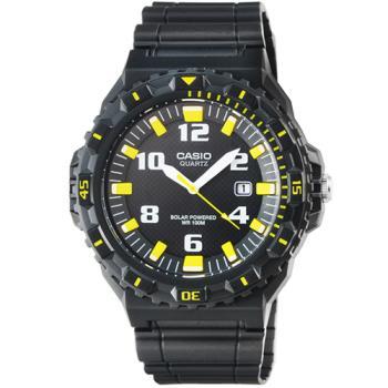 CASIO 日系卡西歐光動能運動錶-黑黃 / MRW-S300H-1B3 (原廠公司貨)