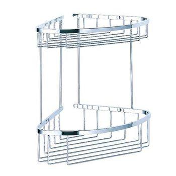 【BACHOR】不鏽鋼衛浴配件-雙層轉角層架
