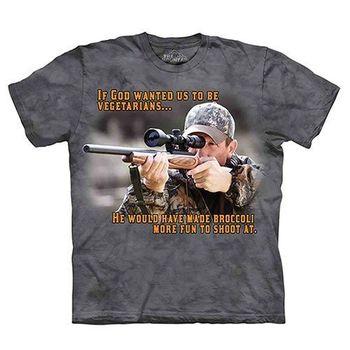 【摩達客】(預購)(大尺碼3XL)美國進口The Mountain Life戶外系列 為何不吃素 純棉環保短袖T恤