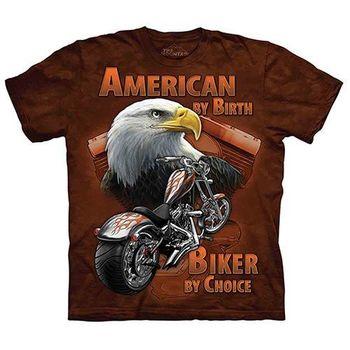 【摩達客】(預購)(大尺碼3XL)美國進口The Mountain Life戶外系列 重機老鷹 純棉環保短袖T恤