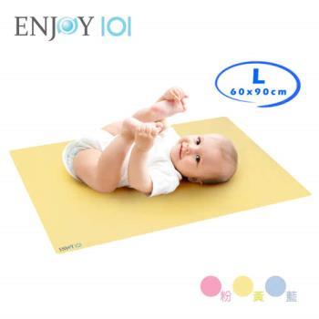 《ENJOY101》矽膠布防蟎止滑防水隔尿墊(尿布墊/保潔墊) - L(60x90cm)