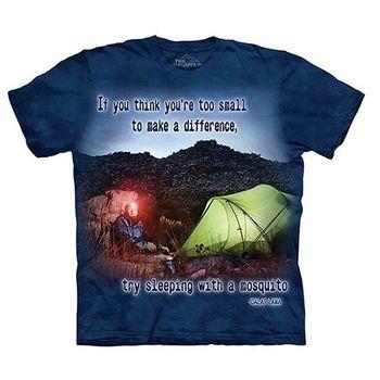 【摩達客】(預購)(大尺碼3XL)美國進口The Mountain Life戶外系列 渺小的蚊子 純棉環保短袖T恤