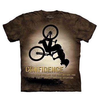 【摩達客】(預購)(大尺碼3XL)美國進口The Mountain Life戶外系列 翻轉自行車 純棉環保短袖T恤