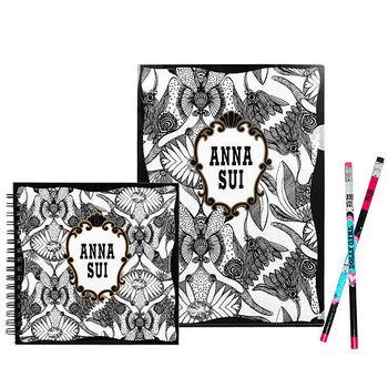 ANNA SUI 安娜蘇 魔法星願文件夾+魔法星願筆記本+DOLLY GIRL 鉛筆組