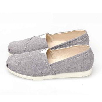 FUFA MIT 舒適休閒素面懶人鞋 (N23) 灰色