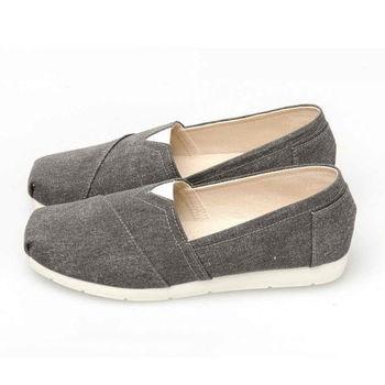 FUFA MIT 舒適休閒素面懶人鞋 (N23) 黑色