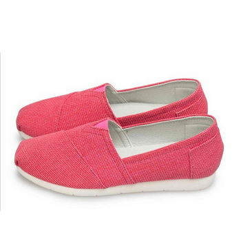 FUFA MIT 純色素面懶人鞋 (FS01) 紅色