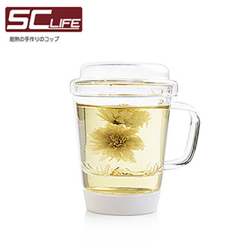 【SC life】三件式玻璃泡茶杯兩入組