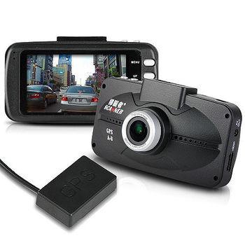 掃瞄者 A8 HDR 1080P高畫質 GPS測速行車記錄器 (送16GC10卡+免費基本安裝)