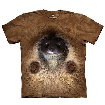 【摩達客】(預購)(女/童)美國進口The Mountain Smithsonian系列顛倒樹懶 純棉環保短袖T恤