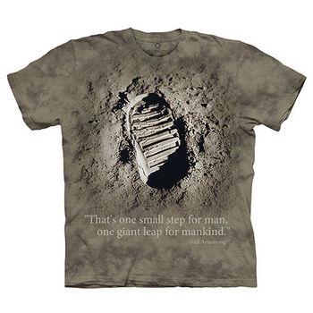 【摩達客】(預購)(女/童)美國進口The Mountain Smithsonian系列偉大的一步 純棉環保短袖T恤