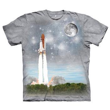 【摩達客】(預購)(女/童)美國進口The Mountain Smithsonian系列前進太空站 純棉環保短袖T恤