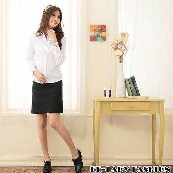 【EE-LADY】素面短裙-黑色