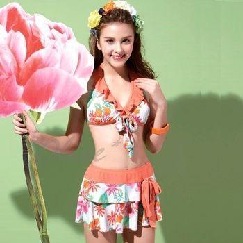 【沙麗品牌】台灣製MIT時尚三件式比基尼泳裝NO.4118(現貨+預購)